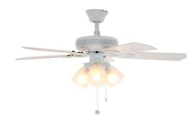 Hampton bay glendale 42 in white ceiling fan 5599 picclick hampton bay glendale 42 in white ceiling fan mozeypictures Image collections