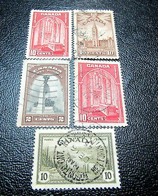 Canada old Stamps Mix lot of 5