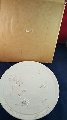 Signed Joniece Frank Frankoma The Gift Of Love Plate 1976 In Original Box