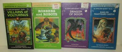 Lot of 4 Dungeons & Dragons Endless Quest Books (Like Choose Your Own Adventure)