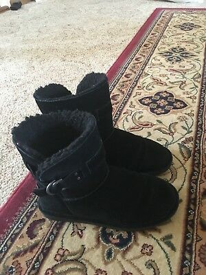 BearPaw Black Boots Size 7