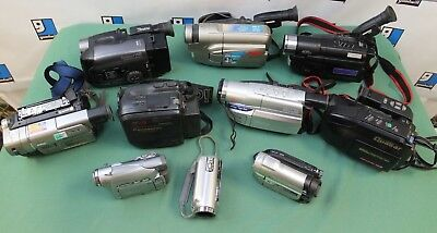 Lot of 10 Cameras/Camcorders Samsung Sony JVC RCA AS-IS PARTS!! lot#1