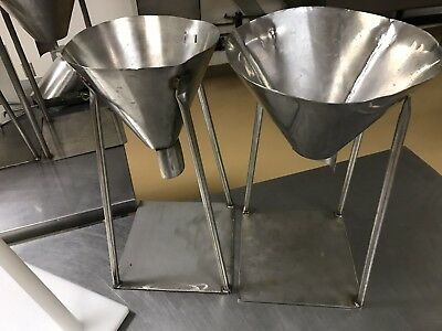 Fully Welded Stainless Steel Packaging Funnels - for bags and pouches