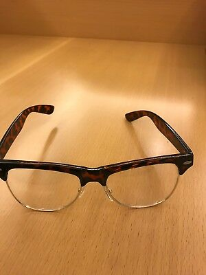 Clubmaster Half Rim  Eyeglasses Wayf Clear Lens Metal Bottom (Bent)