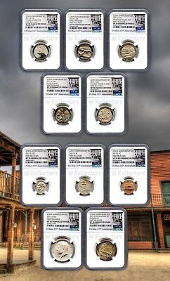 2017 S 225Th Enhanced Uncirculated U.s.10Coin Set Ngc Sp70 First Releases