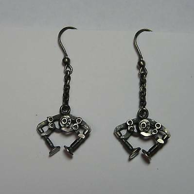 DUCATI DESMO earrings silver 925 Burnished