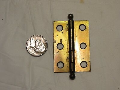 "Antique 1 brass plate Stanley Sweetheart Cannonball door hinge 1 3/8"" X 2"""