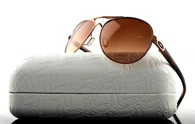 NEW Authentic OAKLEY TIE BREAKER Polished Rose Gold Brown Sunglasses OO 4108-08