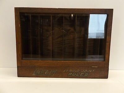 Rare Antique Lufkin Rule Co. Spring Joint Rule Store Display Cabinet