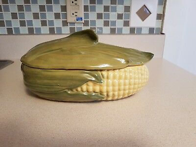 Vintage Shawnee Ohio Pottery King Corn Large Serving Casserole with Lid # 74