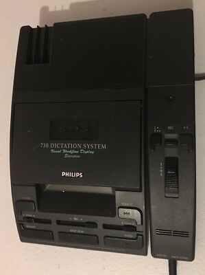 Philips 730 Dictation System Mini Cassette Transcribers
