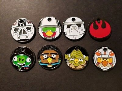 PATHTAGS Star Wars Angry Birds set of 8 tags RETIRED Set #2 ABSW