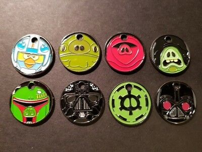 PATHTAGS Star Wars Angry Birds set of 8 tags RETIRED Set #3 ABSW