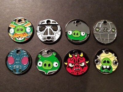 PATHTAGS Star Wars Angry Birds set of 8 tags RETIRED Set #4 ABSW