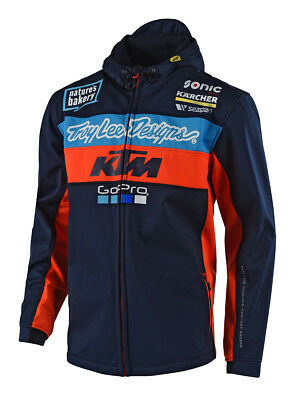 Troy Lee Design KTM Team Pit Jacke Blau Jacket MX Enduro Moto Cross Racing AMA