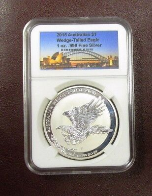 2015 AUS Wedge 1 oz .999 Fine Silver Coin (Uncirculated)