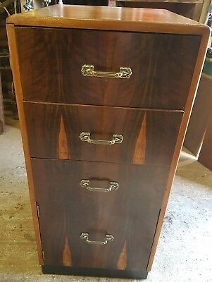 Art Deco Antique Rare Formal Dinnig Drawing Room Chest Restored Solid Wood