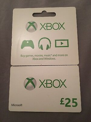 Xbox UK £25 Voucher - Xbox Live Music Games Media Giftcard Card - Windows