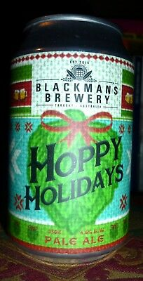 Collectable beer cans: Hoppy Holidays Pale Ale 330ml (sticker label)