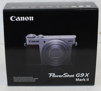 Canon PowerShot G9 X Mark II 20.1MP Digital Camera Silver BRAND NEW UNOPENED BOX
