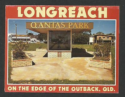 QLD - c1990s SMALL VIEW FOLDER - LONGREACH, QUEENSLAND