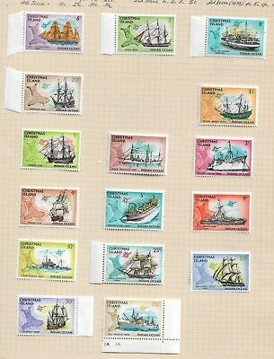 1972 Ships set of of 16 to $1 Mint Hinged as per Scan