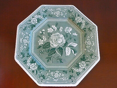 Spode Green  Plate Archive Collection Floral 23Cm Made In England