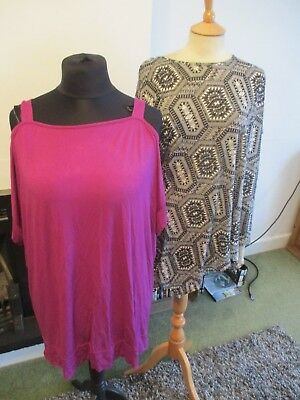 Bundle Of 14 Items Of Ladies Clothes, Size 20/22, Tops/skirts/knitwear, Exc-Con