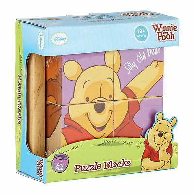 Disney Winnie The Pooh Puzzle Blocks, Wooden Toy For 18 months old. RRP £15