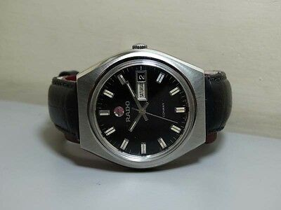 VINTAGE Rado Conway AUTOMATIC DAY DATE SWISS Made Wrist WATCH e769 Old ANTIQUE