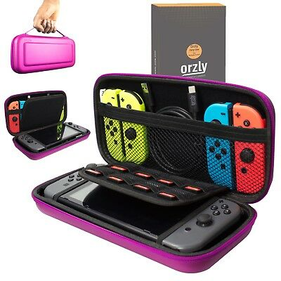Nintendo Switch Hard Case Protective Cover Carry Bag By Orzly - Pink