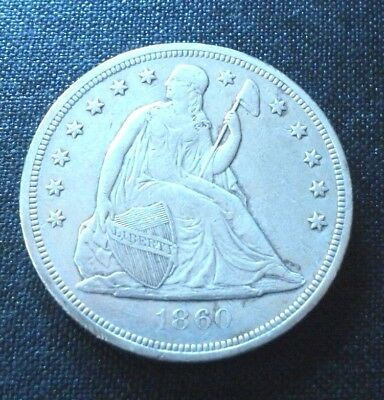 1860-O -Seated Liberty Silver Dollar-Rare-Great Condition