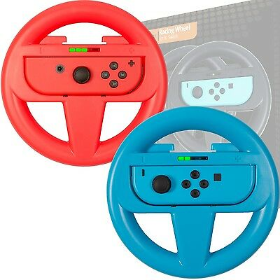 Nintendo Switch Steering Wheels - Twin Pack Red & Blue by Orzly