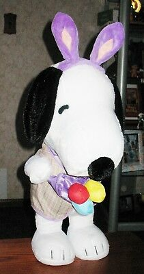 """NEW 25"""" Peanuts SNOOPY PLUSH DOLL TOY PORCH DOOR GREETER~EASTER Bunny"""