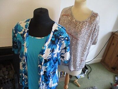 Bundle Of 18 Items Of Ladies Clothes, Size 18/20, Tops/skirts, Named Brands, Exc