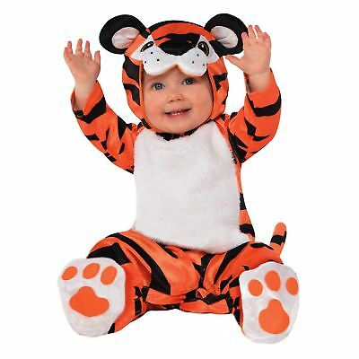 Kids Toddlers Boys Girls Tiny Tiger Wild Animal Zoo Jumpsuit Fancy Dress Outfit