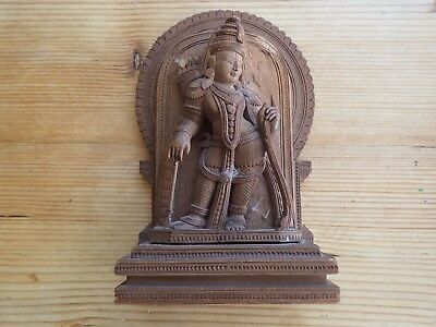 19c Far Eastern Sandalwood Deity Figurine
