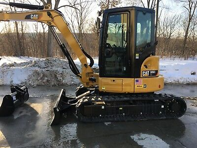 2018 Cat 305E2 excavator- cancelled order machine, full warranty! Cab air thumb