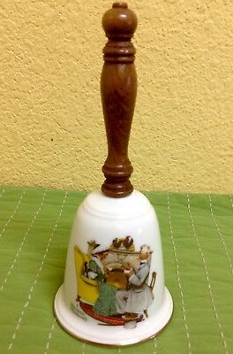 Vintage Gorham Fine China LOVE'S HARMONY 1978  Porcelain Bell Norman Rockwell