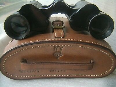 Air Ministry London 6x30 Binoculars Military 6E/293 with 6E/293 Military Case