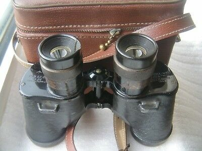 REL WW2 Military Canadian Binoculars 6x30 Useable Sharp Classic Lined Case Strap