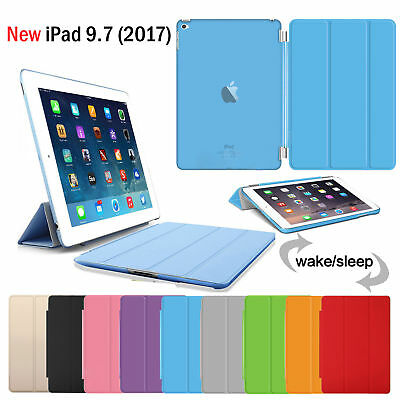 New Apple iPad 9.7 2017 / iPad Air Smart Slim Magnetic Leather Stand Case Cover