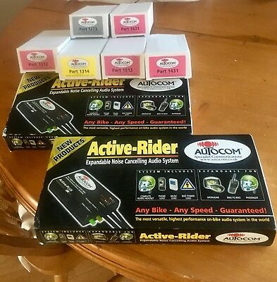 Two * Autocom Active Plus KIT 200 Duo Motorcycle Communication Systems - BNIB!