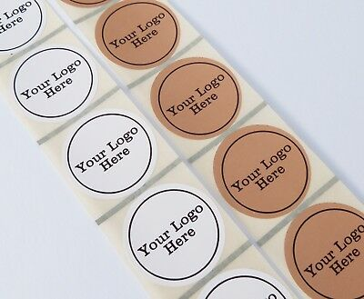 45Mm White Or Kraft Brown Round Personalised Labels Stickers Your Logo