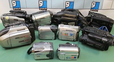 Lot of 10 Cameras/Camcorders Samsung Sony JVC RCA AS-IS PARTS!! lot#2