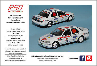 Decals - Ford Sierra Cosworth - 1/43 - Carlos Sainz Race of Champions 1991