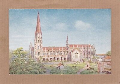Madras San Thome Cathedral 8988 Raphael Tuck & Sons. Antique Postcard (C7)