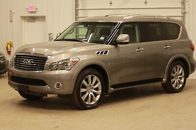 2013 Infiniti QX56 4WD Third Row*QX56*4WD*400HP*Nav*Top View Cam*Rear Seat Video Monitors*Gray on Black