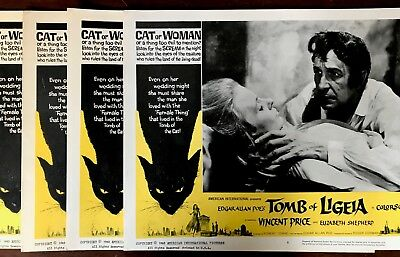 Lot Of 4 Lobby Cards Tomb Of Ligeia Original 1965 Vincent Price