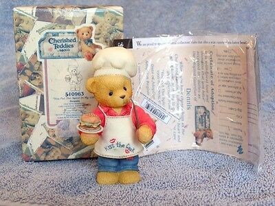 Cherished Teddies You Put The Spice In My Life Dennis #510963 Bbq Chef Cook Euc